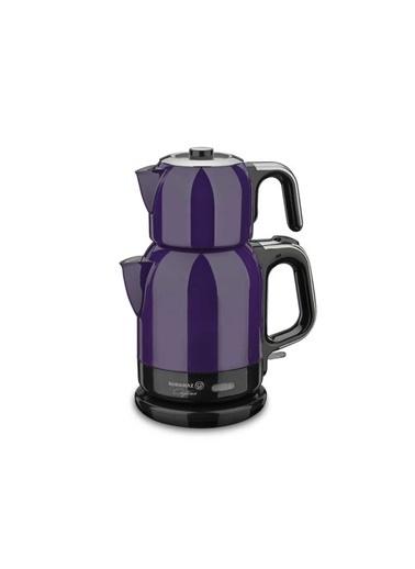 Korkmaz Çaytema Lavanta/Krom Elektrikli Çaydanlık Mor